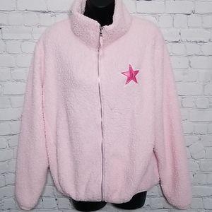 Jeffree Star pink fleece fuzzy jacket